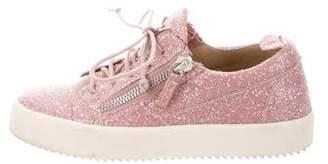 Giuseppe Zanotti Glitter Round-Toe Sneakers