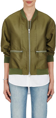 3.1 Phillip Lim Women's Tech-Twill Layered Bomber Jacket $850 thestylecure.com