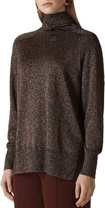 Whistles Sparkle-Knit Turtleneck Sweater