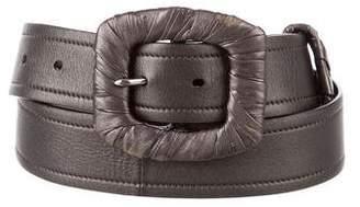 Prada Metallic leather Belt