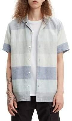 Levi's Cubano Regular-Fit Linen Cotton Button-Down Shirt