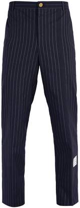 Thom Browne Chalk-stripe cotton chino trousers