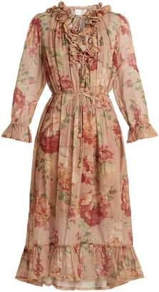 Zimmermann Corsair Ruffle cotton dress