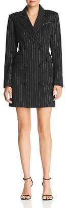 Milly Pinstriped Mini Blazer Dress