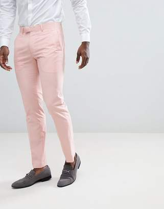 Farah Smart skinny suit pants in pink
