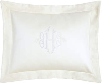 Peacock Alley King Angelina Pique Sham with Block Monogram