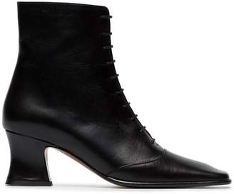 By Far Kate 60 lace-up leather ankle boots