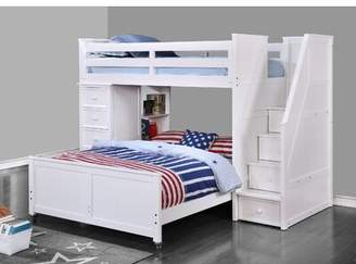 Harriet Bee Raub Twin Over Full L-Shaped Bunk Bed with Bookcase Harriet Bee