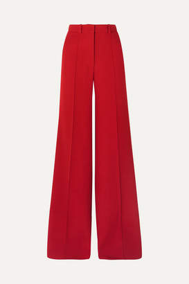 Victoria Beckham Wool Wide-leg Pants - Red