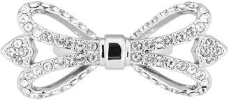 Ted Baker Helsaah Ornate Crystal Bow Ring - Size M-L