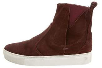 Lanvin Suede Slip-On Sneakers