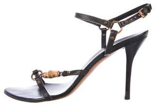 Gucci Bamboo Leather Sandals