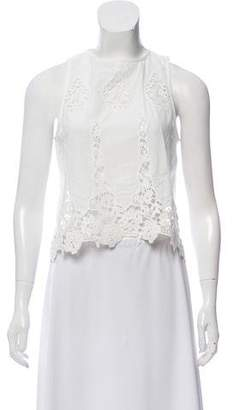 Miguelina Lace-Accented Sleeveless Top