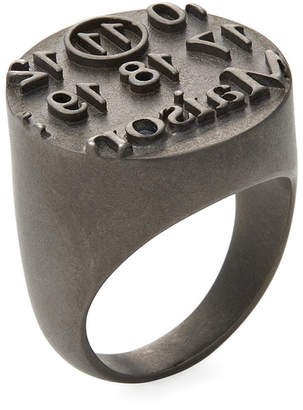 Maison Margiela Logo Stamp Band Ring