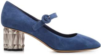 Salvatore Ferragamo Mary Jane Block Heels