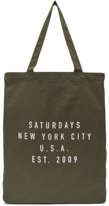 Saturdays NYC Green Established USA Tote