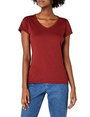 G Star Women's Eyben Slim V T Wmn S/S T-Shirt, (Black 990), 16 (Size:)