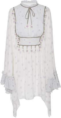 MY BEACHY SIDE Peasant Mini Dress