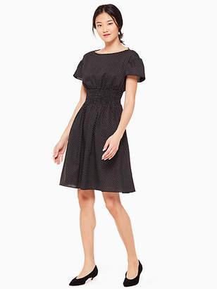 Kate Spade Pin dot scallop poplin dress