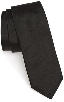 Men's Boss Solid Silk Skinny Tie $95 thestylecure.com