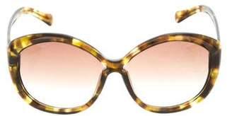 Balenciaga Tortoiseshell Oversize Sunglasses
