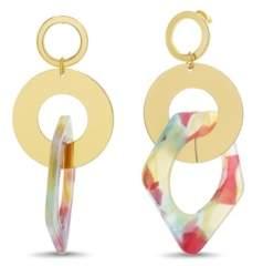 Catherine Malandrino Women's Interlocked Circle Drop Earrings