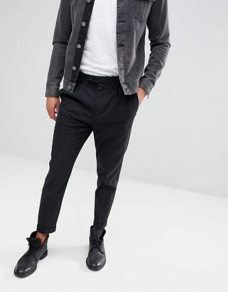 AllSaints Slim Crop PANTS In Charcoal