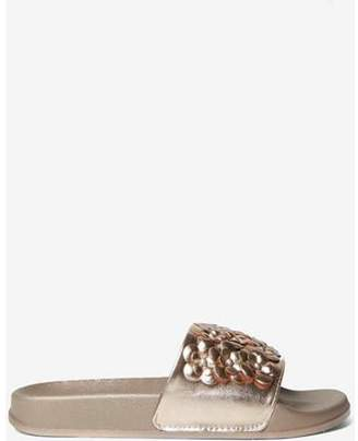 Dorothy Perkins Womens Metallic 'Forest' Floral Sliders