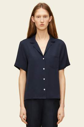 Mansur Gavriel Silk Short Sleeve Button Down