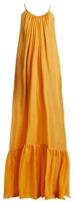 BRIGITTE Kalita Silk Habotai Maxi Dress - Womens - Orange