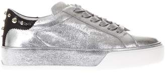 Hogan Silver Rebel 320 Sneakers In Leather