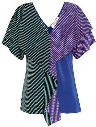 Diane von Furstenberg Printed stretch-silk top