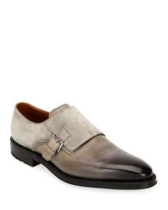 ea8306d4a8f Bally Men s Balbin Leather Injected-Sole Monk Strap Shoes