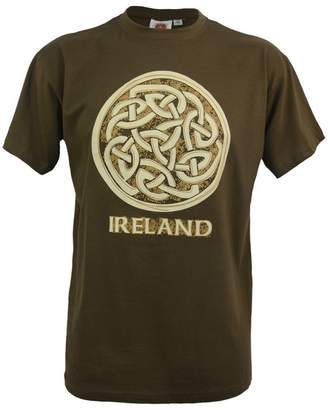 Celtic Traditional Craft Ltd Khaki Ireland Knot R/N T-Shirt-Xlarge