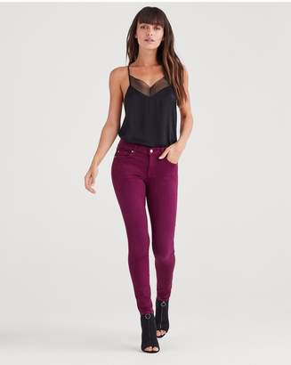 7 For All Mankind Ankle Skinny In Sangria