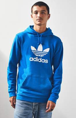 adidas Trefoil Warm-Up Blue Pullover Hoodie