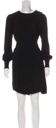 Prada Silk Logo-Embellished Knee-Length Dress