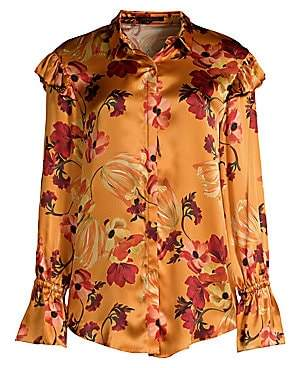 Mother of Pearl Women's Marin Silk Floral Blouse