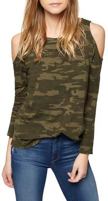 Sanctuary Lolita Cold Shoulder Camo Tee