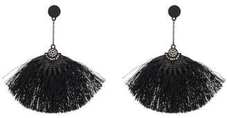Saachi Star Crystal Detail Fringe Earrings