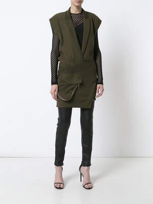 Alexandre Vauthier Asymmetric military dress