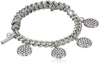 Kenneth Cole New York Tone Pave Shaky Circle Stretch Bracelet