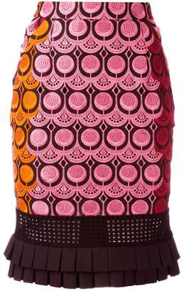 Capucci embroidered skirt
