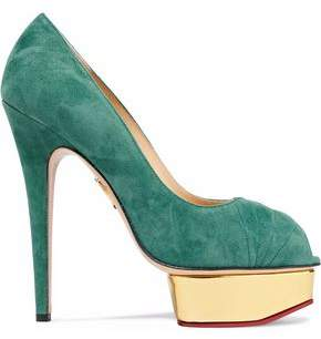 Charlotte Olympia Daryl Suede Platform Pumps