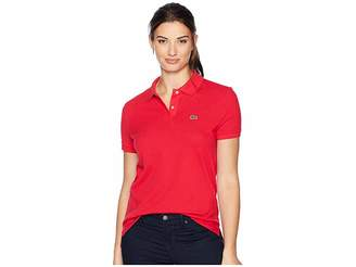 Lacoste Short Sleeve Two-Button Classic Fit Pique Polo