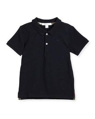 Burberry Palmer Short-Sleeve Polo Shirt, Navy, Size 6M-3Y