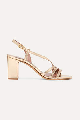 Tabitha Simmons Charlie Metallic Leather Sandals - Gold