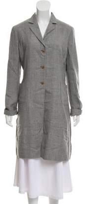 Miu Miu Woven Knee-Length Coat