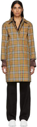 Burberry Beige Check Rainbow Claymore Coat