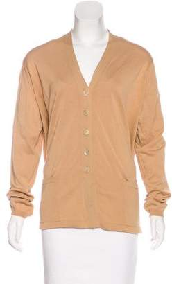 Malo Long Sleeve Button-Up Cardigan